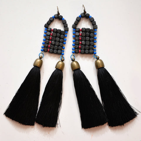 LUCA Statement earrings Black/White