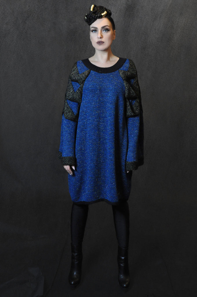 Chain Sweater/Electric Blue