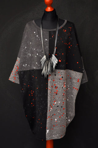 Kimono dress Flowers Black