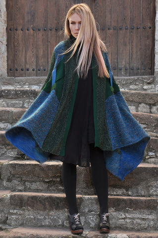 Patchwork Sweater Green