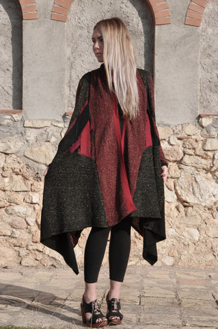 LONG Patchwork Knit Brown