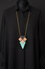 WOOD ANA Necklace Mint/Black/Gold