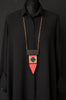WOOD INA Necklace Black/Red