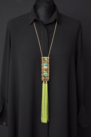 TIKA fringe necklace White