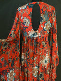 Kimono dress Flowers Red