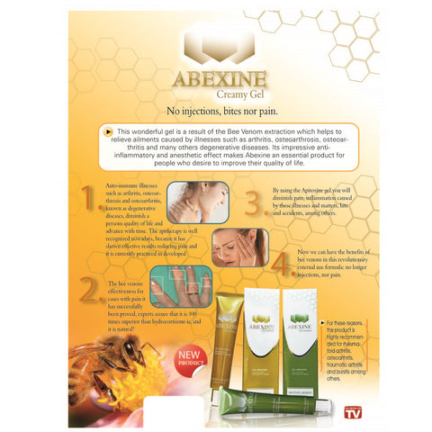 Abexine 50ml Pain Relief Gel with Menthol