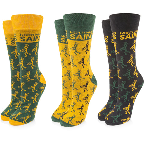 Saints 3PK Stickman Dress Socks