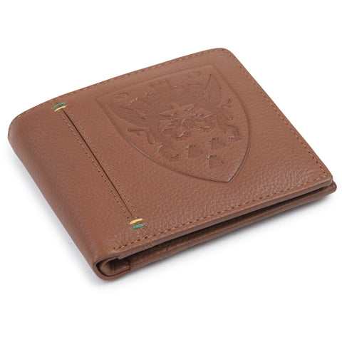 Crest Leather Wallet Brown