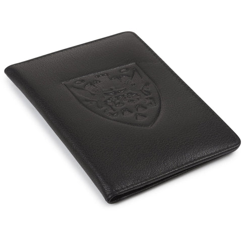 Crest Leather Passport Holder