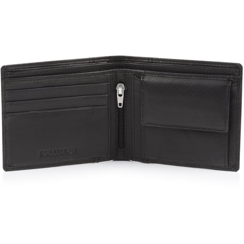 Crest Leather Wallet Black
