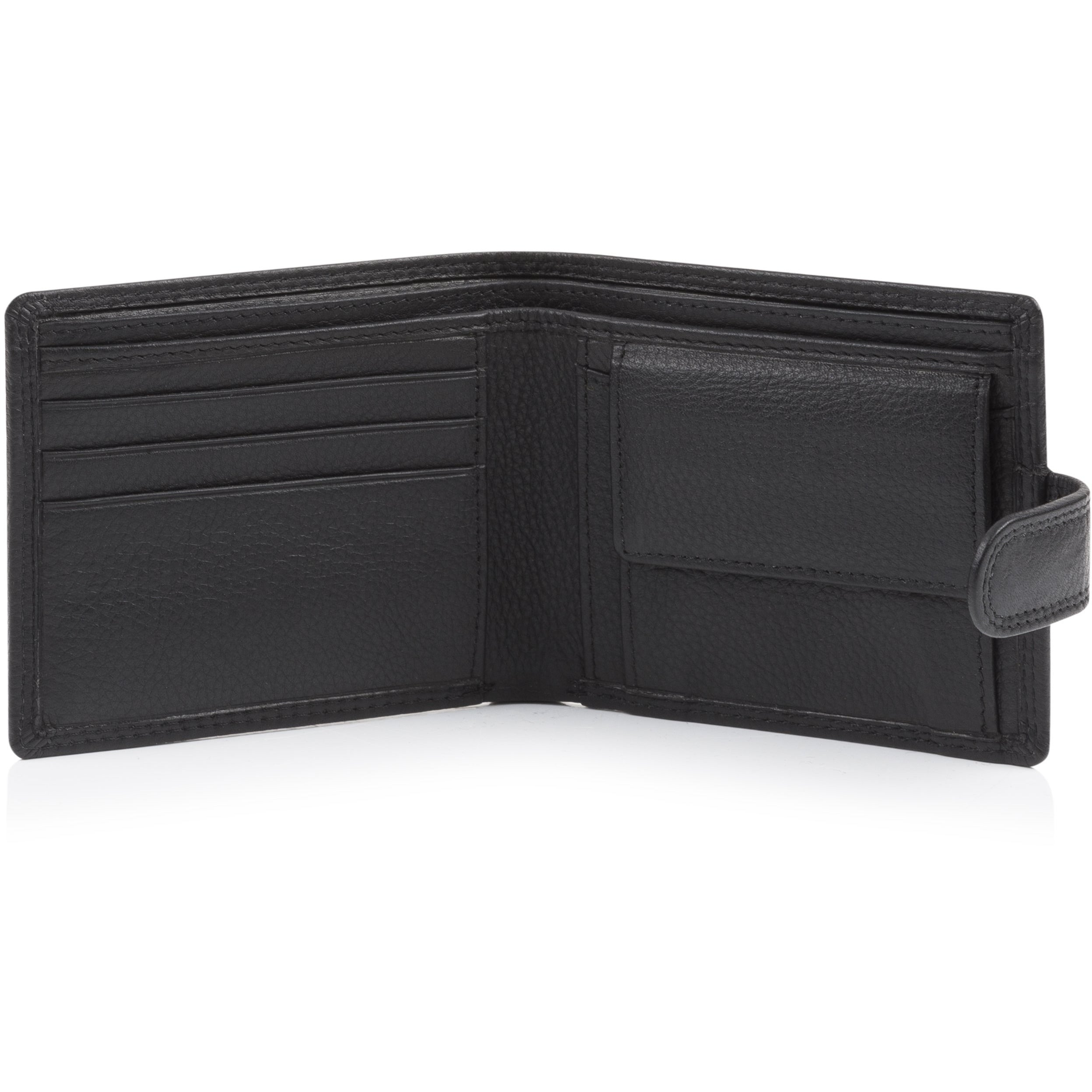 Metal Crest Leather Wallet
