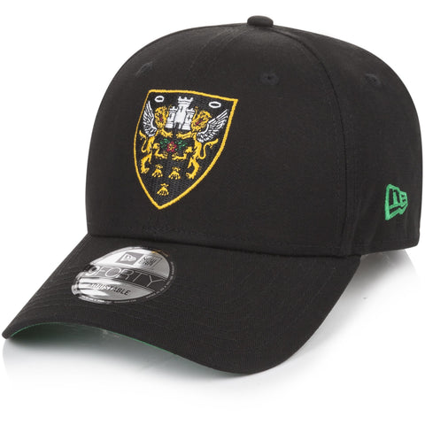 New Era Crest Cap Black Junior