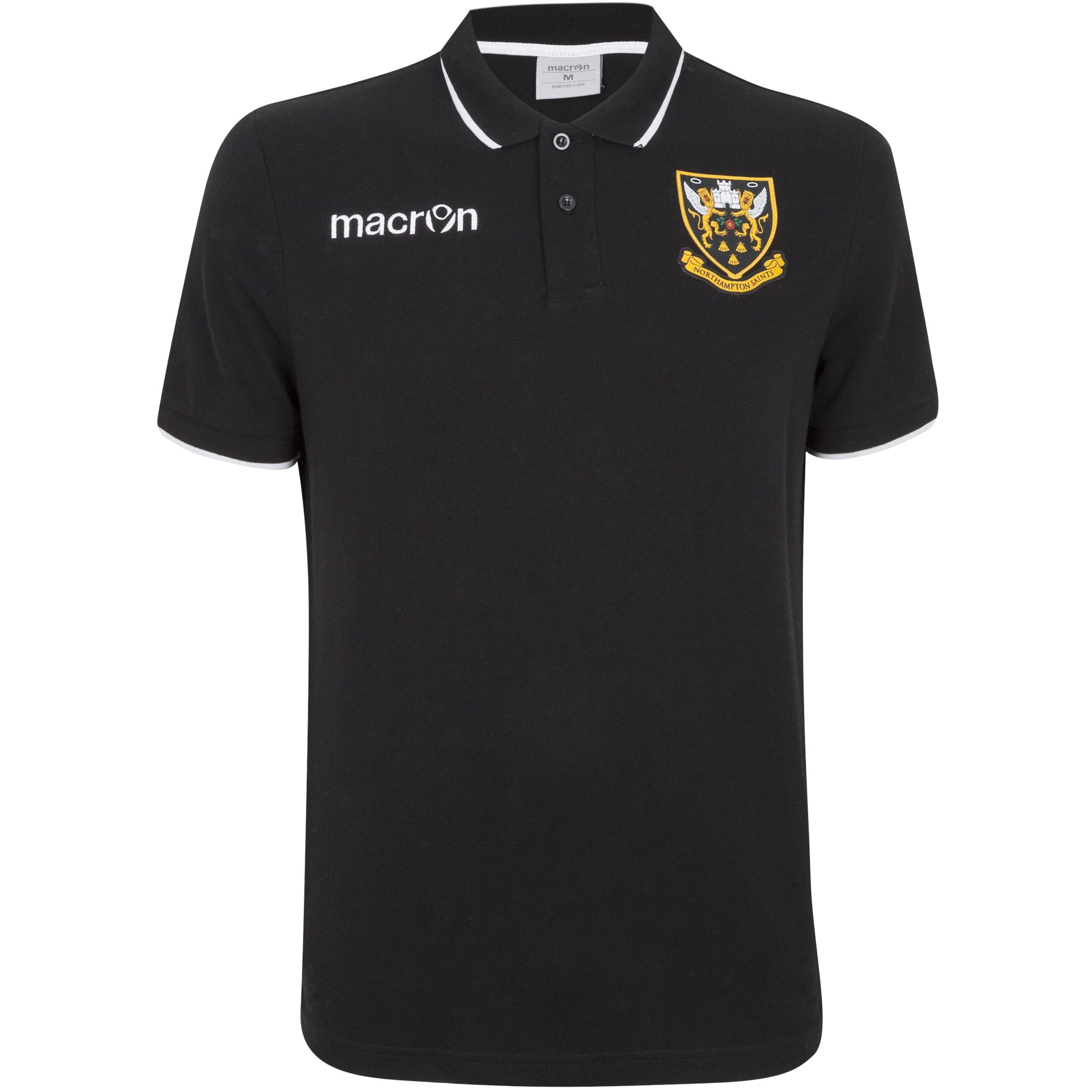 Macron Black Crest Polo Youth