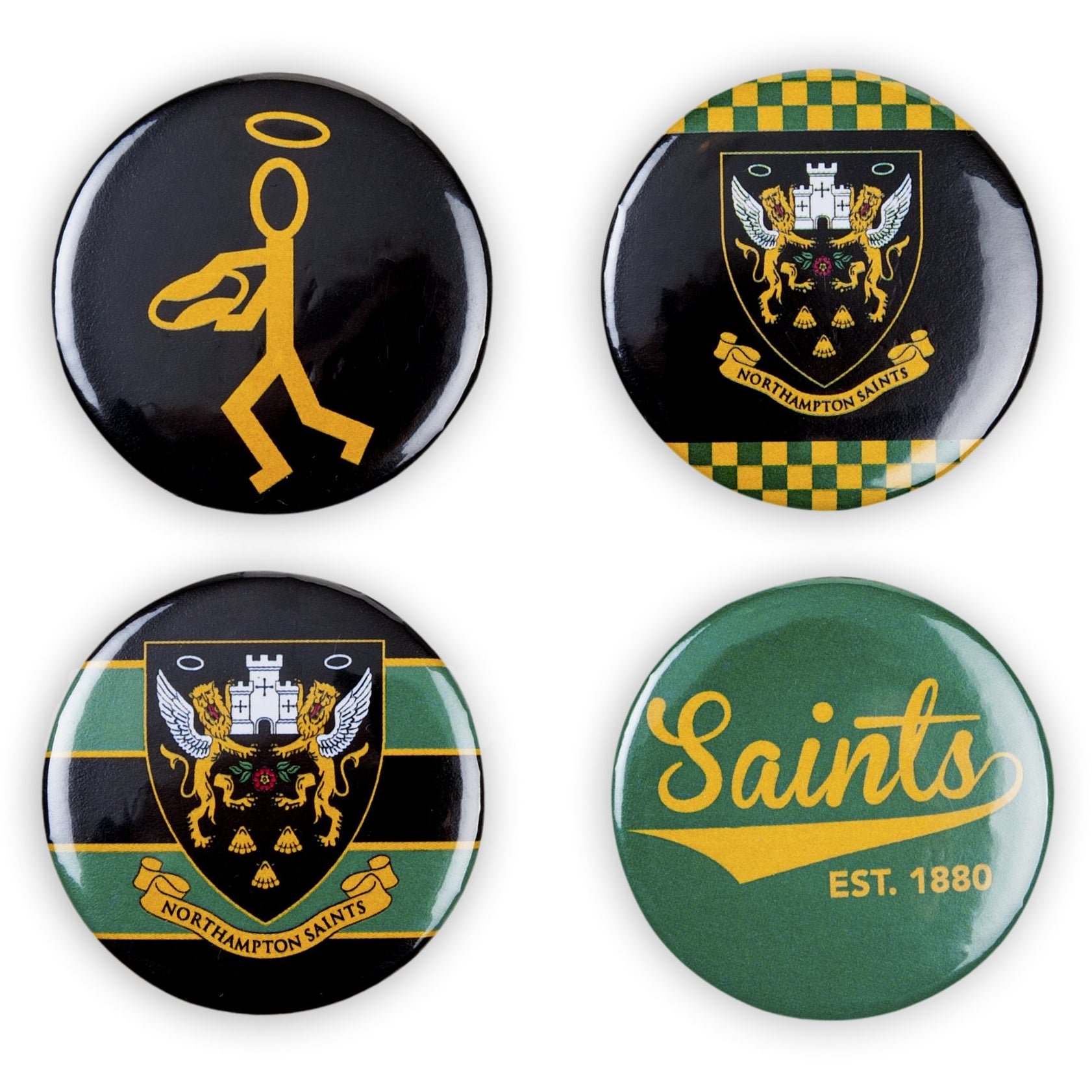 Saints Button Pin Badge 4 Pack