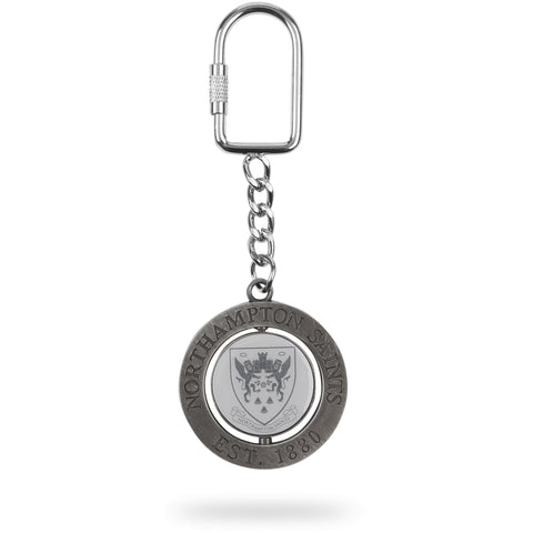Saints Rotating Round Spinner Keyring