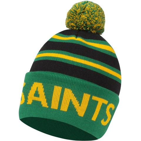 Saints Stripe Bobble Hat
