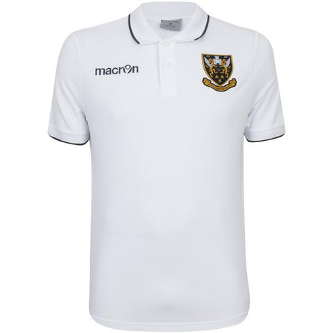 Macron White Crest Polo Youth