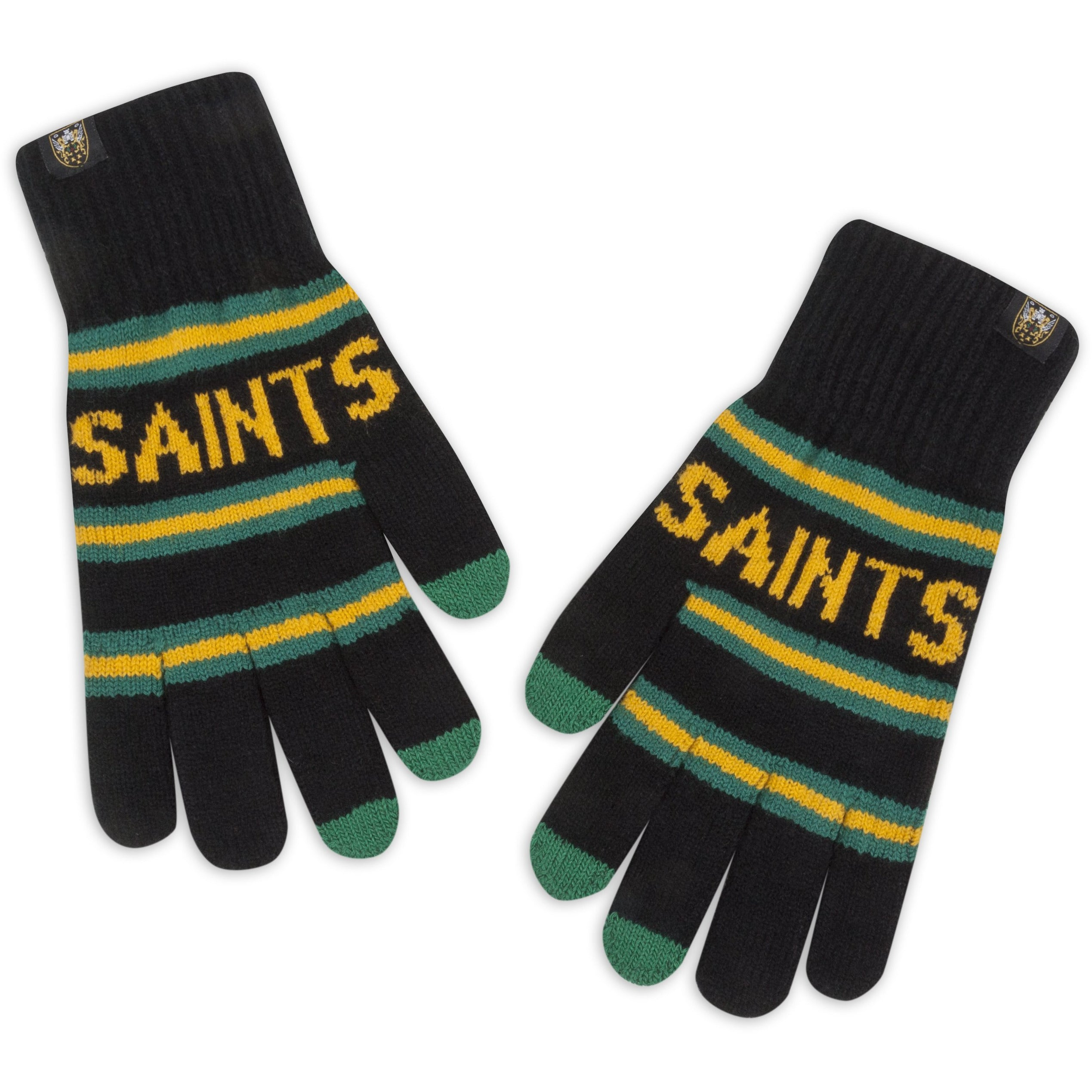 Northampton Saints Stripe Touchscreen Gloves Youth