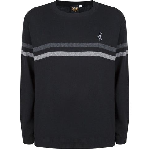 Twin Stripe Crew Neck Jumper