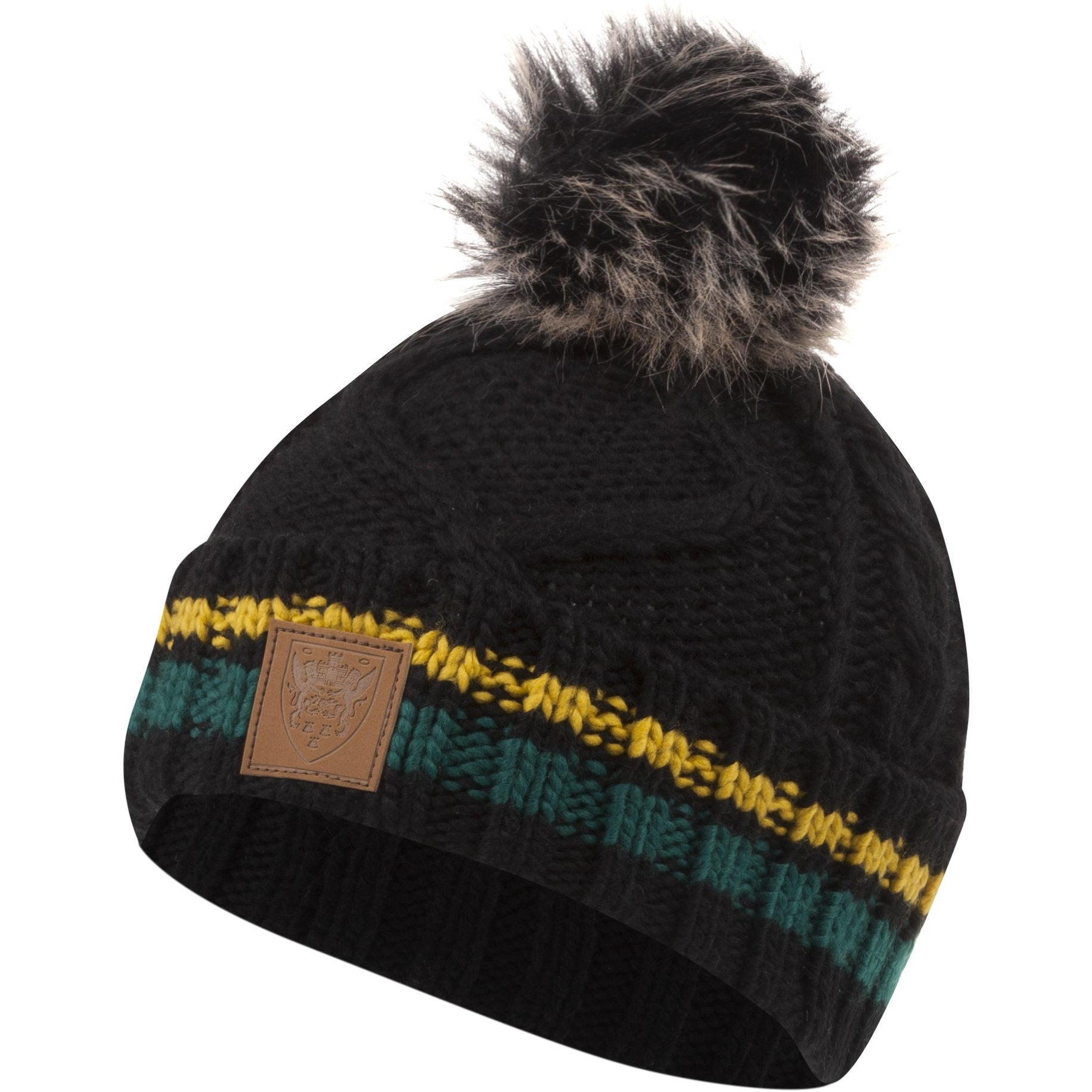 Northampton Saints Ladies Black Pom Pom Beanie