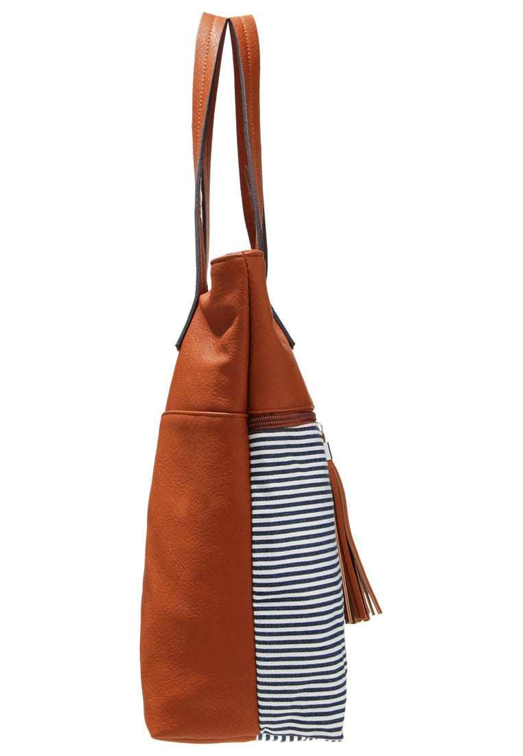 Shopping Bag  cognac blue
