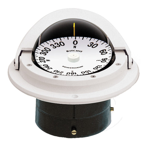 Ritchie F-82W Voyager Compass - Flush Mount - White