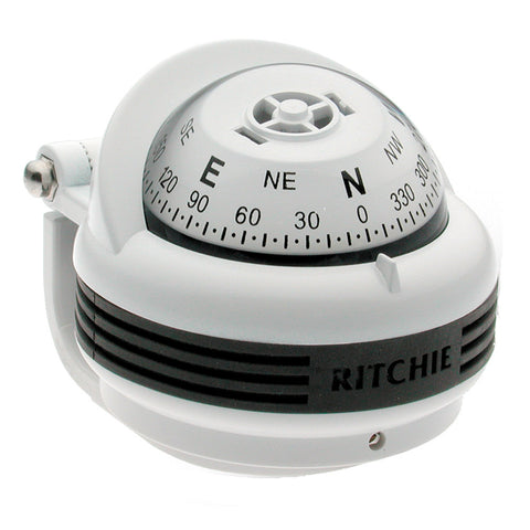 Ritchie TR-31W Trek Compass - Bracket Mount - White