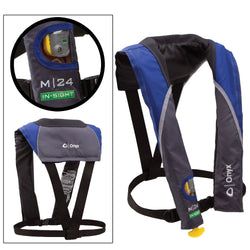 Onyx M 24 In-Sight Manual Inflatable Life Jacket - Blue