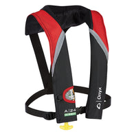Onyx A-24 In-Sight Automatic Inflatable Life Jacket - Red/Grey