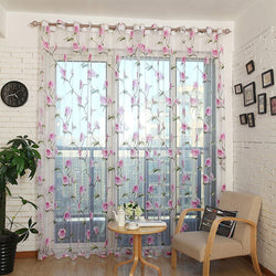 Window Sheer Curtains Panel, Paris DMC478