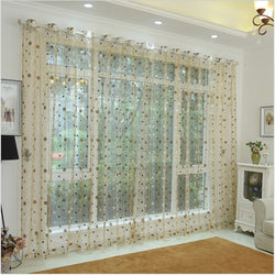 Window Sheer Curtains Panel, Paris DMC479