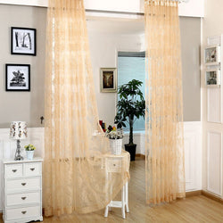 Window Sheer Curtains Panel, Paris DMC482