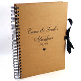 Personalised Portrait Scrapbook/Album with Kraft Cover and Ribbon-Tie