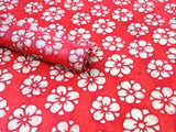 Red Marygold Design, Handmade Batik Waxed Lokta Paper Sheet