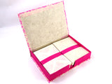Paisley Pink Writing Paper and Envelopes, Handmade Boxed Stationery Gift Set