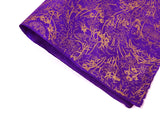 Bamboo Bush Design on Purple Lokta Paper Sheet Handmade Gift Wrap