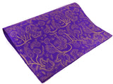 Purple and Gold Paisley Design, Himalayan Lokta Paper Sheet, Handmade Gift Wrap, 50x75cm