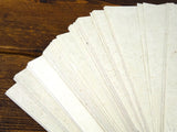 A5 Natural Lokta Paper Clean Cut - pack of 100