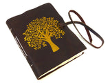 Tree Design Leather Journal, Notebook, Scrapbook, Travel Journal, Natural Lokta Pages