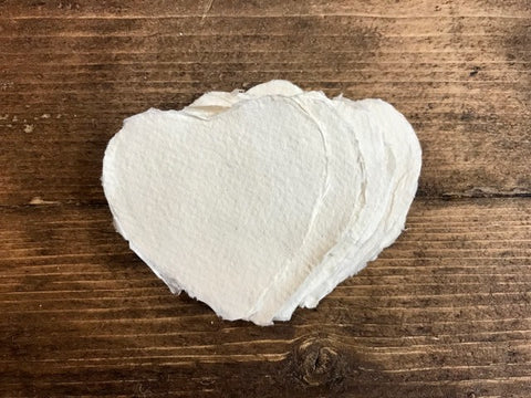 Mini White Paper Hearts, 7x7cm, 210GSM, Pack of 20