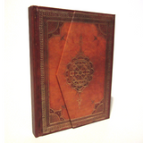 'Arabesque' Journal Notebook with Foldover Magnetic Case