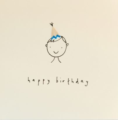 Pencil Shaving Card, Birthday Boy