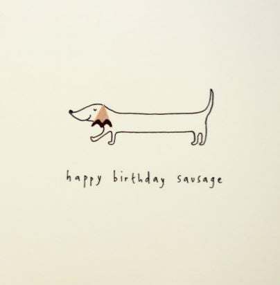 Pencil Shaving Card, Birthday Sausage Dog