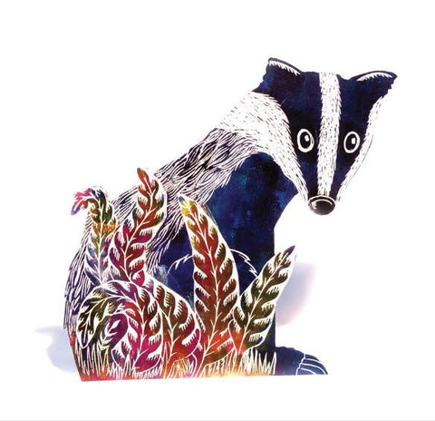 3D Greetings Card 'Badger'
