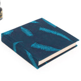 6x6 Blue Lokta Covered Journal made with Handmade Paper