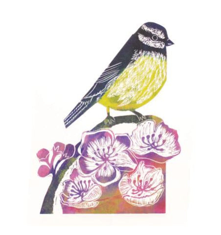 3D Greetings Card 'Blue Tit'