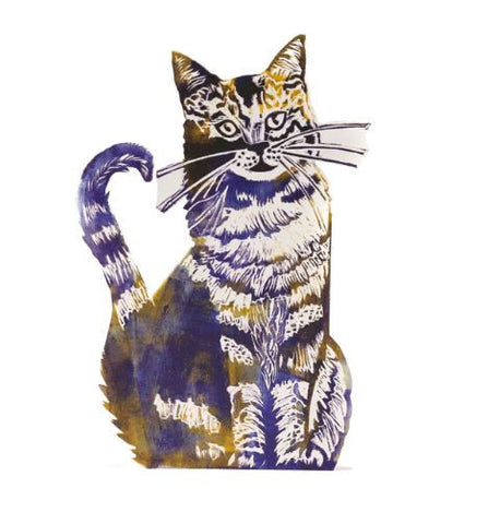 3D Greetings Card 'Cat'