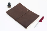 Dark Brown Nepalese Leather 'Business Journal' Notebook, A4 or A5