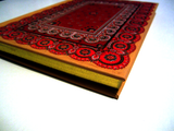 'Antique' Crimson Red Journal Notebook with Gold Foil Highlighting