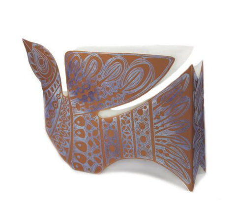 3D Greetings Card 'Copper Dove'